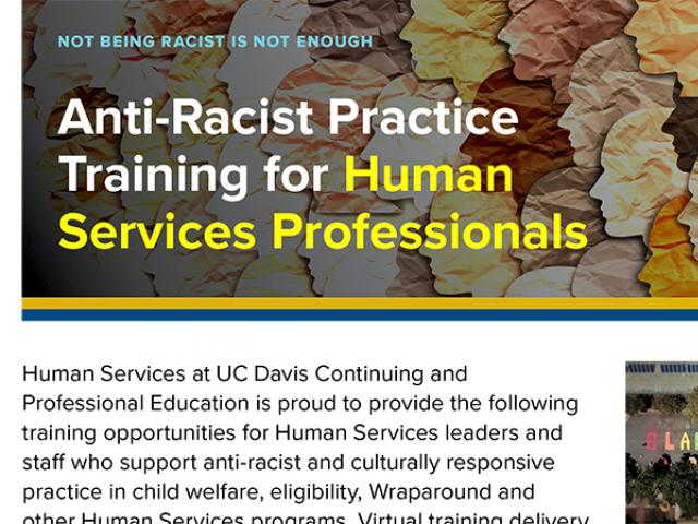anti-racist practice training flyer